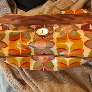 Womens fossil makeup accessory bag